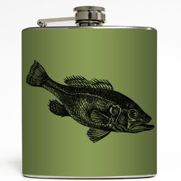 Gone Fishing - Bass Fish Flask