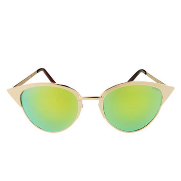 So into this design on Fab! Paulina Green Lens Sunglasses #FabForAll