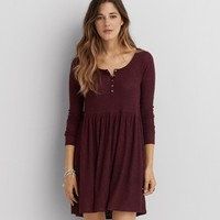 AEO FEATHER LIGHT HENLEY DRESS