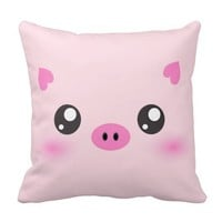 Cute Pig Face - kawaii minimalism