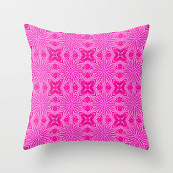 Pillow Cover, Throw Pillow, Hot Pink Dorm Decor,