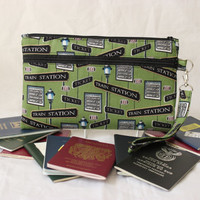 Family Passport Holder - Travel Document Holder - Travel Organizer - Multiple Passport Holder - Large Passport Wallet - Trains READY to POST