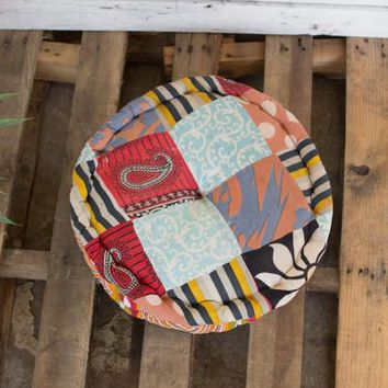 Round Kantha Floor Cushion