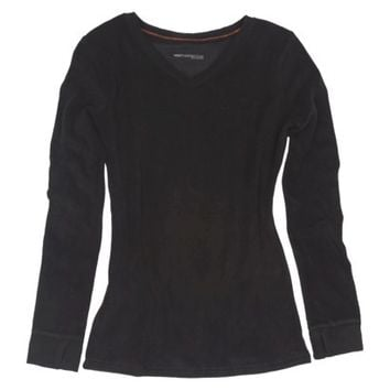 Warm Essentials by Cuddl Duds® Women's Stretch Fleece Long Sleeve V-Neck - Assorted Colors