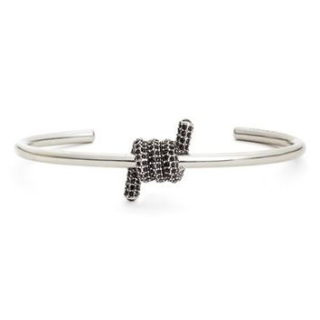 MARC JACOBS Pavé Twisted Cuff Bracelet | Nordstrom