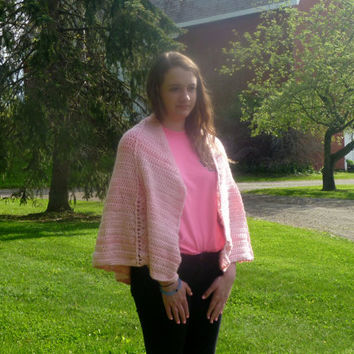 Crochet Pink Summer Shawl