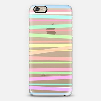 Pastel Rainbow Stripes II - Transparent/Clear background iPhone 5s case by Lisa Argyropoulos | Casetify
