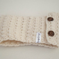 Cream Wool Headband