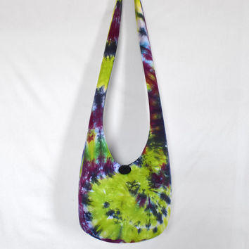 Hobo Bag, Crossbody Bag, Hippie Purse, Sling Bag, Hobo Purse, Boho Bag, Bohemian Purse, Tie Dye Hobo Bag, Tie Dye Hippie Bag, Handmade Bag