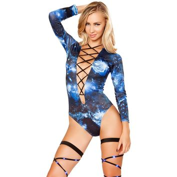 Galaxy Lace Up One Piece