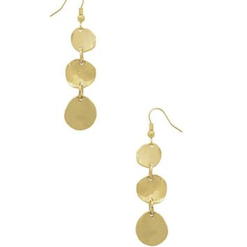 Karine Sultan Sophia Drop Gold-Plated Earrings