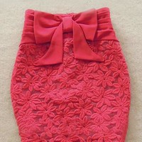 A 072403 Slim bow gauze skirt0803 from cassie2013