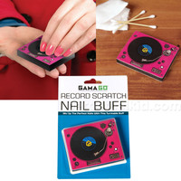 RECORD SCRATCH TURNTABLE NAIL BUFF