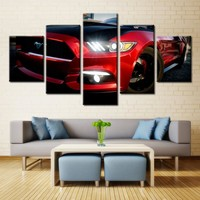 Red GT Mustang Cobra Wall Art Print on Canvas Framed Unframed Picture