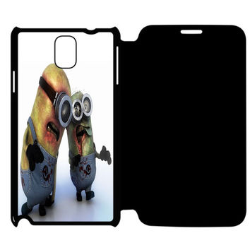 Zombie Minions Samsung Galaxy Note 4 Flip Case Cover