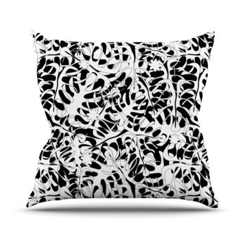 Leaves Julia Grifol Throw Pillow