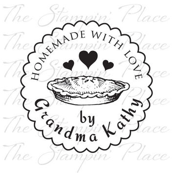 Personalized Custom Stamp - Homemade with Love Pie - PK323