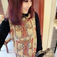 Special Knitted long Sleeve Women Chiffon Dress pink&black free shipping
