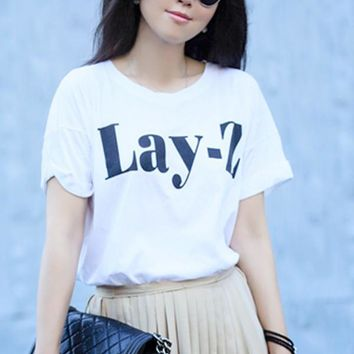 """""""Lay-Z"""" Graphic Tee"""