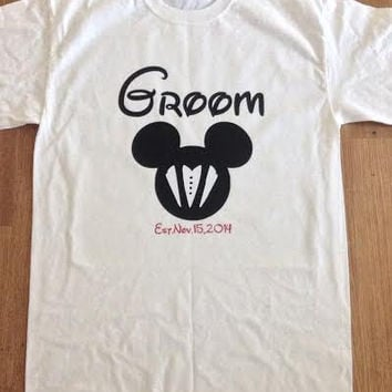 Free/Fast  Shipping Disney Groom Tank Top or T Shirt