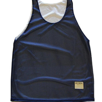 Navy and White Basketball Reversible