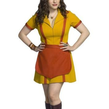 2 Broke Girls Max Caroline Waiter Uniform Dress For Women Girls Halloween Party Carnival Cosplay Costume