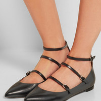 Gianvito Rossi - Leather point-toe flats
