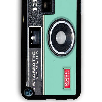 IPod 5 Case - Hard (PC) Cover with Camera Instamatic Kodak Mint Green Plastic Case Design