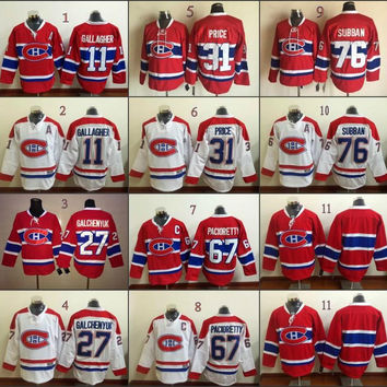 #11 27 Alex Galchenyuk 31 67 2016 Lace Front Hockey Jerseys Ice Winter Home Away Jersey Stitched Logo Authentic Mix Order