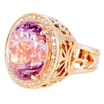 "46.0 carat Kunzite & Diamond ""Queen"" Ring"