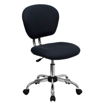 Gray Mesh Mid-Back Task Chair Without Arms