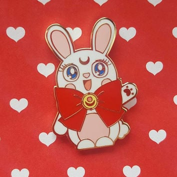 Sailor Moon Usagi Bunny ~ Kawaii Enamel Pin ~ Cute Sailor Moon Pin