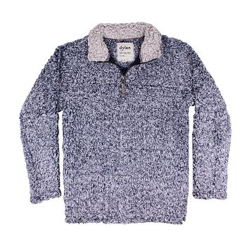 Frosty Tipped Women's Stadium Pullover in Vintage Blue by True Grit (Dylan)