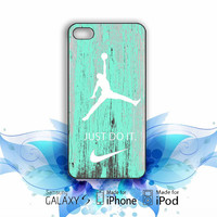 Nike Jordan Mint Wood iPhone 5, 5s, 5C, 4, 4S , Samsung Galaxy S3, S4, S5 , iPod Touch 4 / 5 Case