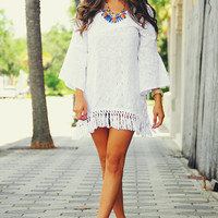 Dream Away Dress: White