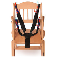Universal Baby 5 Point Harness Safe Belt Seat Belts For Stroller High Chair Pram Buggy Children Kid Pushchair 360 Rotating Hook