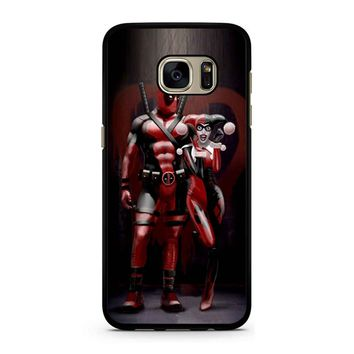 Harley Quinn And Deapool Samsung Galaxy S7 Case