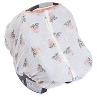 Little Unicorn Watercolor Rose Car Seat Canopy