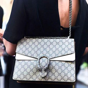 GUCCI Fashion hot lady drunkard shoulder bag White