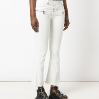 Unravel Project Flared Lace-up Jeans - Farfetch