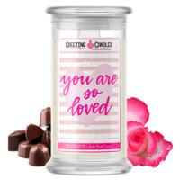You Are So Loved | Valentine's Day Jewelry Greeting Candle