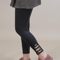Farrah Criss Cross Legging, Black