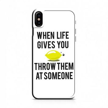 When Life Gives You Lemons iPhone X Case