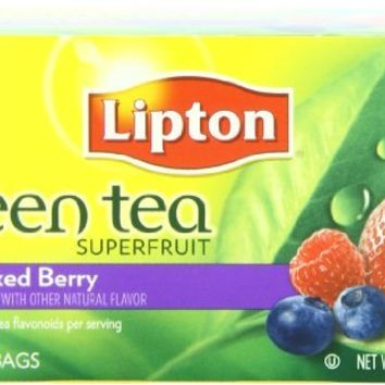 Lipton Green Tea Superfruit, Mixed Berry 20 ct