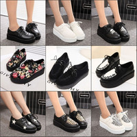 2015 Creepers Shoes Women Casual Black Suede Vintage creepers platform shoes zapatos mujer Women Flats women Boats shoes-in Women's Flats from Shoes on Aliexpress.com | Alibaba Group