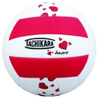 Tachikara Sof-Tec Heart Indoor/Outdoor Volleyball (Red/Black/White)