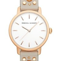 Rebecca Minkoff BFFL Studded Leather Strap Watch, 36mm | Nordstrom