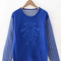 Embroidery Patchwork Knitted Sweater
