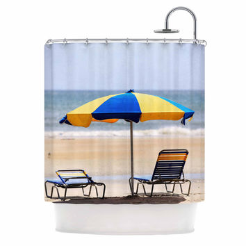 "Angie Turner ""Umbrella"" - Coastal Photography Shower Curtain"