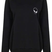 Ellie Alien Emoji Logo Crew Sweater